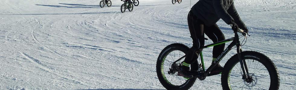 Groupe en descente fat bike