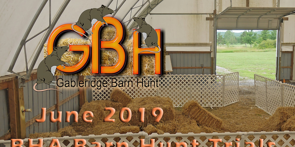 2019 BHA Barn Hunt Trials June 1 & 2 ( Close for Pre-entries May 15)