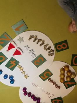 Weihnachtliches Mathematikmaterial
