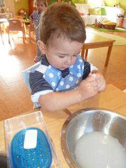 Erste Versuche - Händewaschen