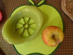 Teilen eines Apfels...