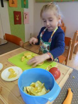 Vorbereitung der Brotzeit