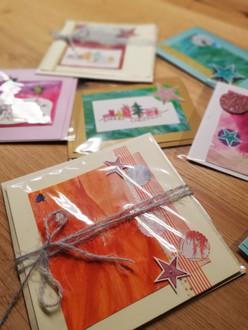 Kunstvolle Weihnachtskarten