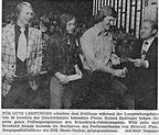 preis für gute leistungen für bernhard straub (und pallo, hasslinger) während der lossprechungsfeier der druckindustrie. (rnz, 16.07.1973)