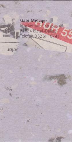gabi metzger visitenkarten-unikate
