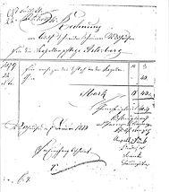 Historische Rechnung für die Kapellenpflege St.Wendelin-Kapelle in Simmisweiler