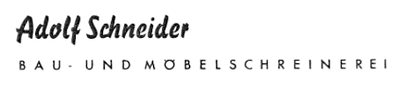 Historisches Firmenlogo Adolf Schneider Bau- und Möbelschreinerei