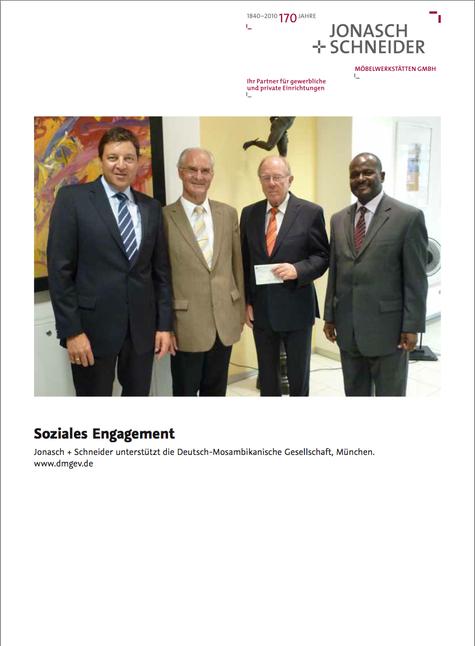 J + S unterstützt die Deutsch-Mosambikanische-Gesellschaft seit 2010
