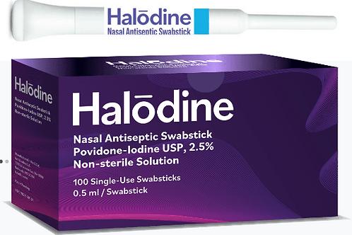 Halodine Nasal Antiseptic Swabstick (100 units)