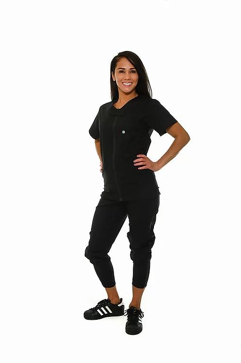 Medi Zip Women's Tapered Jogger Set (cotton blend)