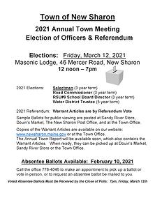 2021 Election- Officers  Referendum Post