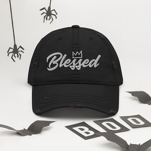 Blessed (3D Puff) Distressed Dad Hat
