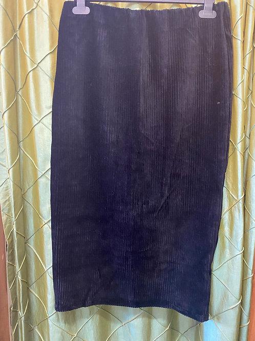 Black Long Cord Skirt