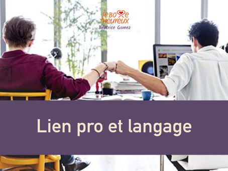 Liens pro et langage