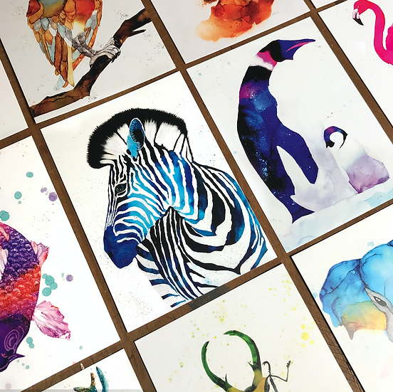10 Animal Ink Postcards