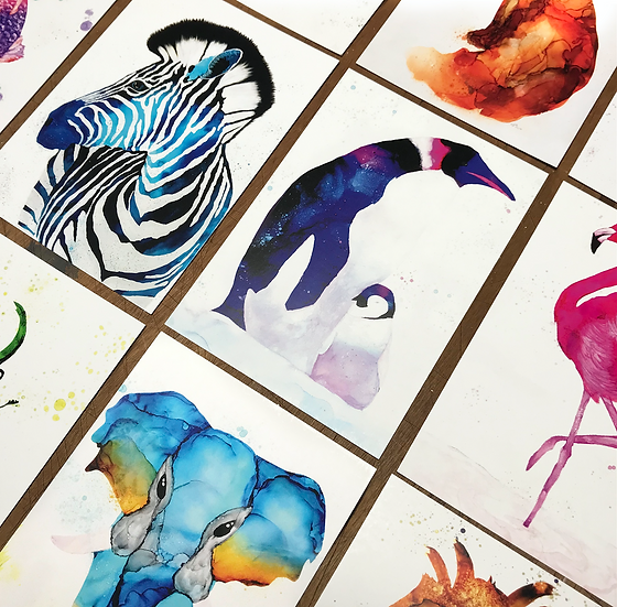 20 Animal Ink Postcards