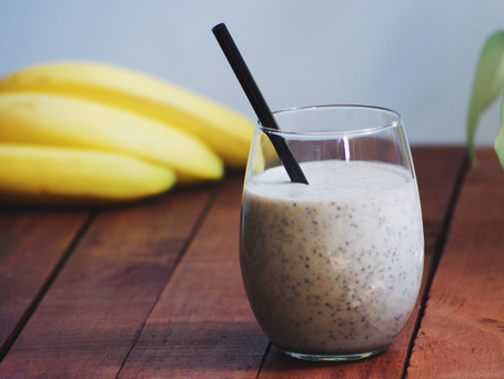 Banana, Almond and Chia Smoothie