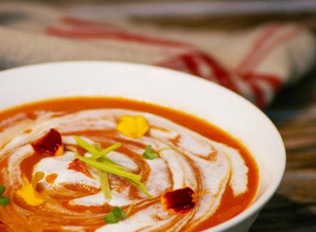 Roasted Tomato Soup with Coconut Lemongrass Foam