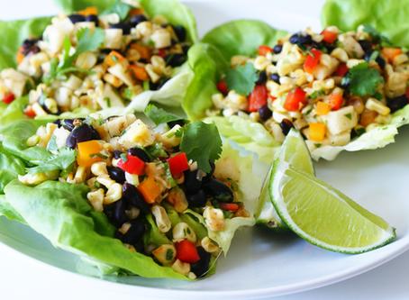 Black Bean Chili-Lime Lettuce Wraps