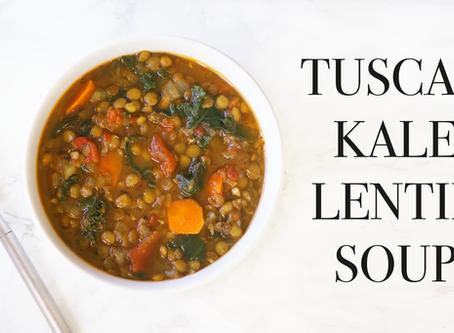 Tuscan Lentil Kale Soup