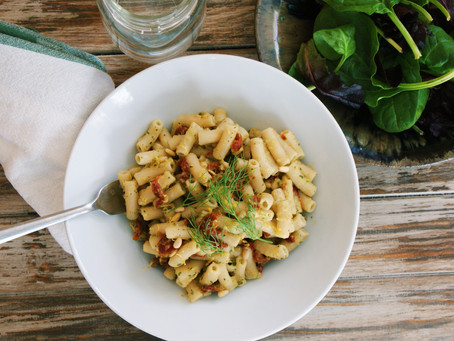 Penne with Fennel Sauce, Pine Nuts, and Sun-dried Tomatoes