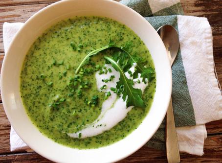 Potato, Leek & Arugula Soup
