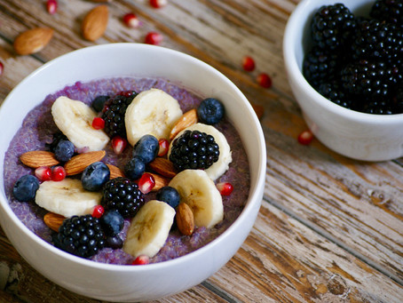 Banana Berry Quinoa Bowl