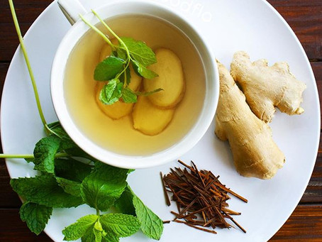 Ginger Mint Pau D'arco Detoxifying Tea.