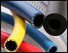 Hoses, couplings, plastics, rubber.