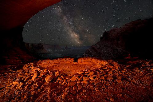 False Kiva at Night, Utah