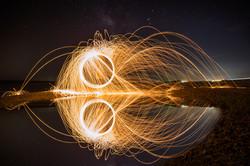 Kris Gunther spinning wool LR