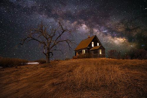 Night at the Farmstead, North Dakota