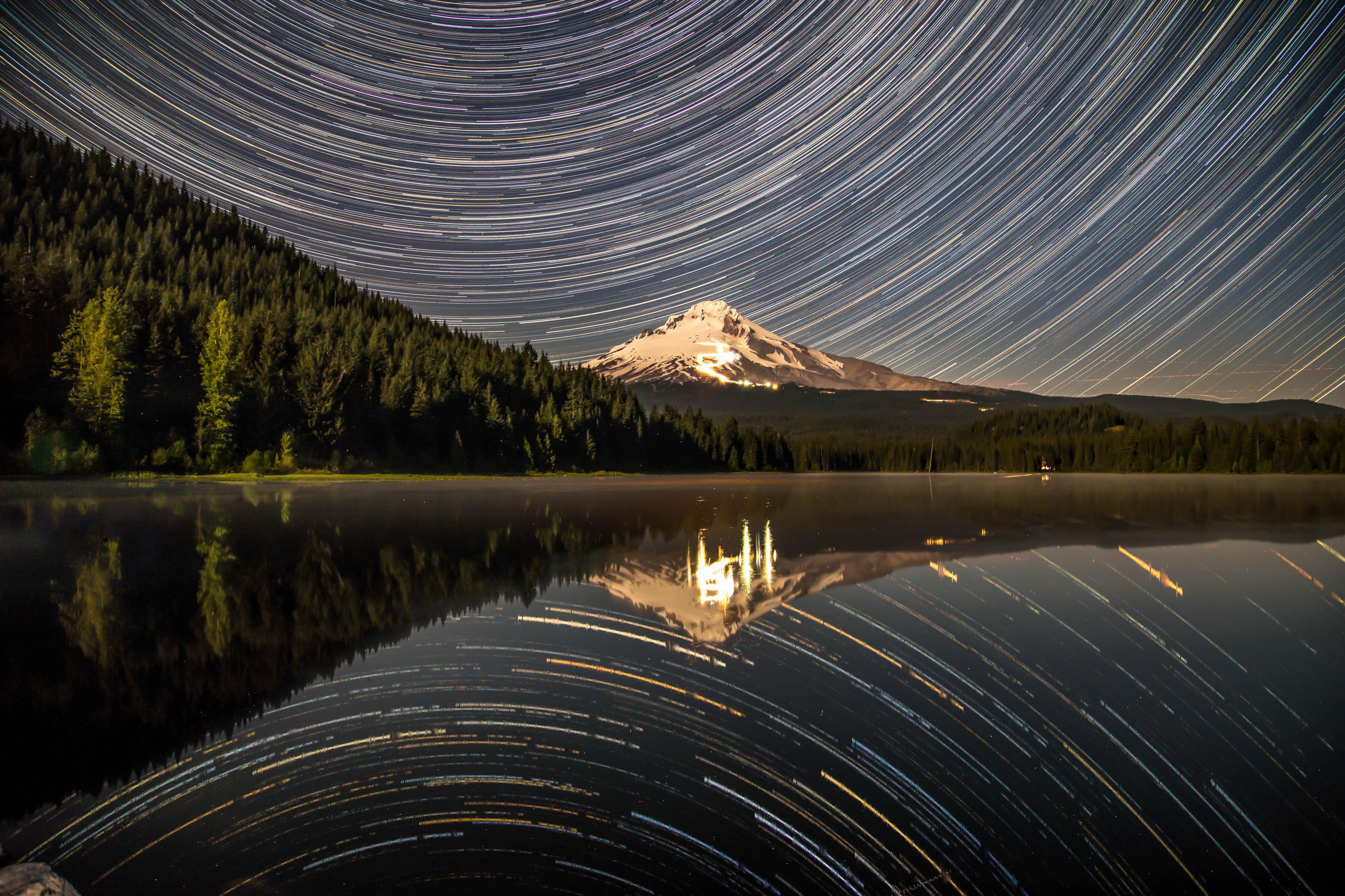 Mt Hood Star Trail