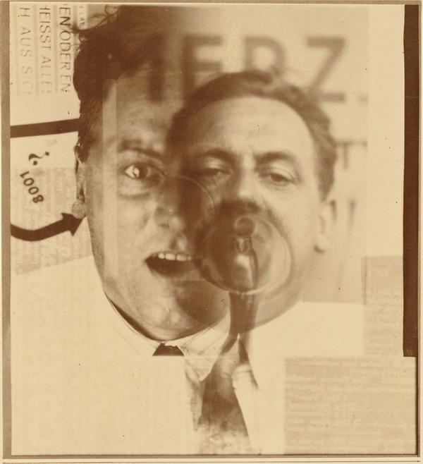 El Lissitzky portrait of Kurt Schwitters