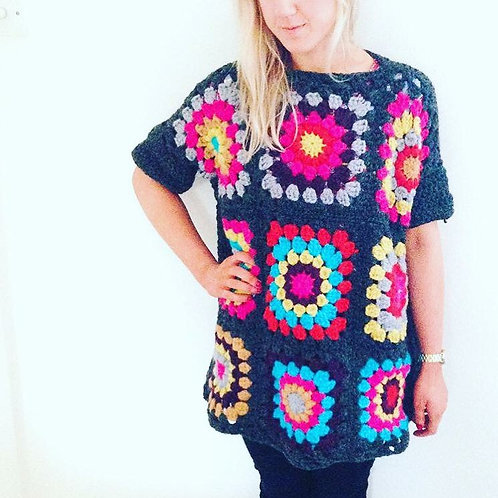 Oversized Granny Square Jumper - Crochet Pattern