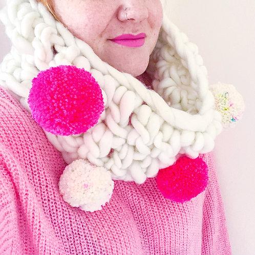 Christmas Pompom Scarf - Crochet Pattern