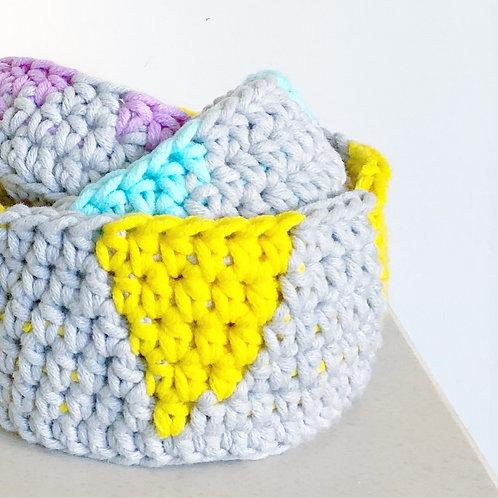 Mini Nesting Bowls - Crochet Pattern