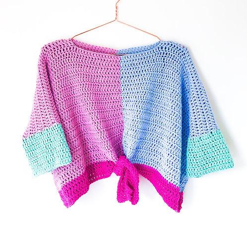 Candy Colour Block Tie Top - Crochet Pattern