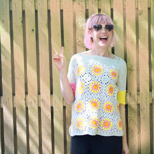 Summer Granny Square Top - Crochet Pattern