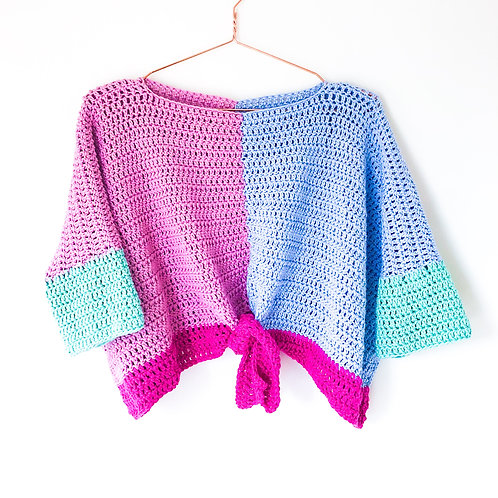 Candy Colour-Block Crop Top