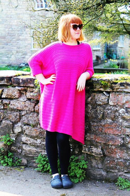 Oversized T-shirt Dress - Crochet Pattern