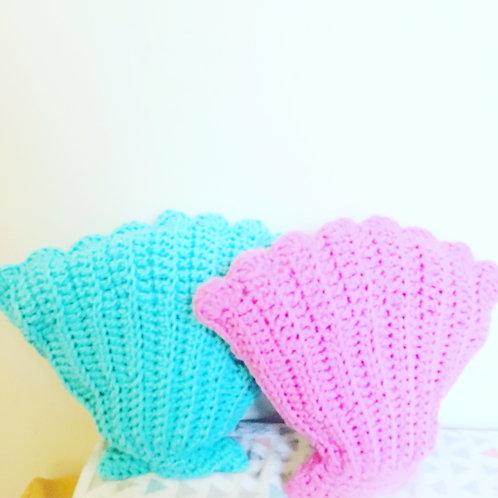 Mermaid Shell Cushion - Crochet Pattern