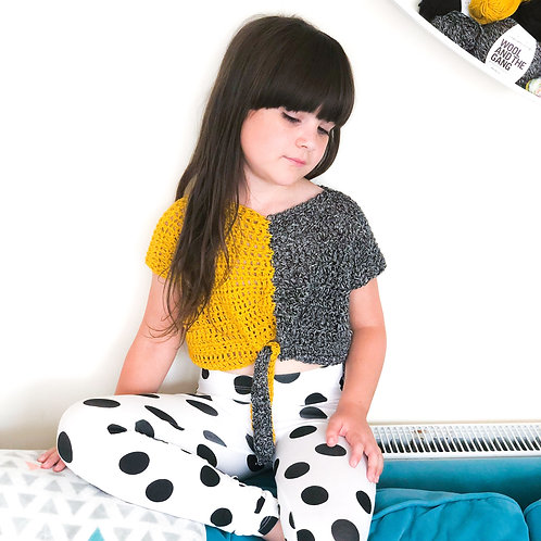 Kids Colour Block Top - Crochet Pattern