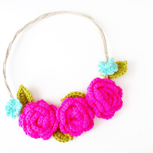 Festival Flower Crown - Crochet Pattern