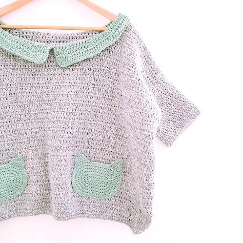Kitty Pockets Jumper - Crochet Pattern
