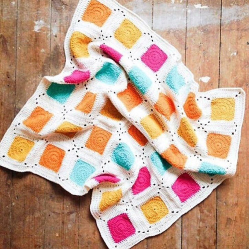 Colour Pop Blanket - Crochet Pattern