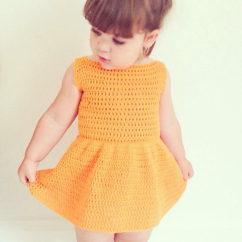 Cotton Mini Dress - Crochet Pattern