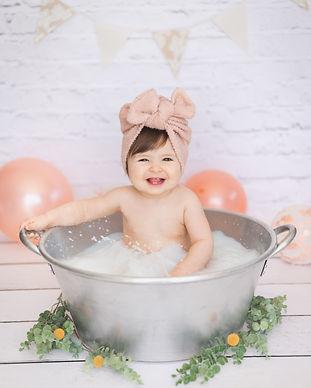 Séance photo enfant bain de lait photogr
