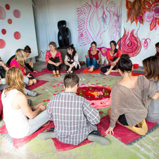 After making art, we gather in a circle together—and the magic begins. This is when intentions are shared, fears are released, and deep connections and bonds are made.