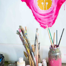 Upon arrival, we invite attendees to paint and sculpt with clay as they get comfortable with the space and eachother—and we provide all of the materials.